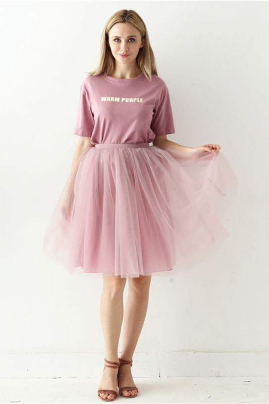 White Short Puffy Petticoat with Layers
