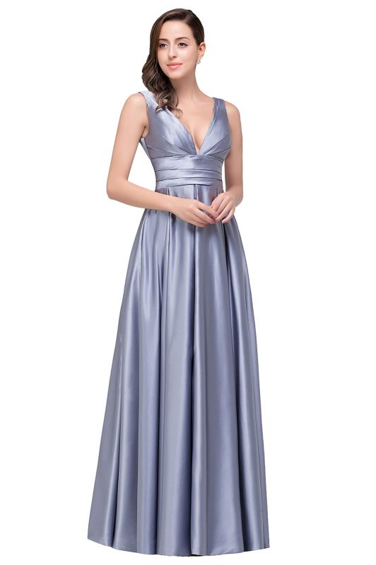 Sexy Evening Gowns Deep V Neck Beaded Pageant Dresses