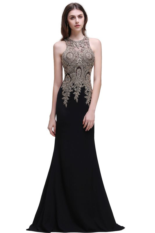 BROOKLYNN | Mermaid Black Prom Dresses with Lace Appliques