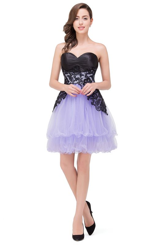 A-line Bowknot-Sash Lace-Up-Back Homecoming Dresses