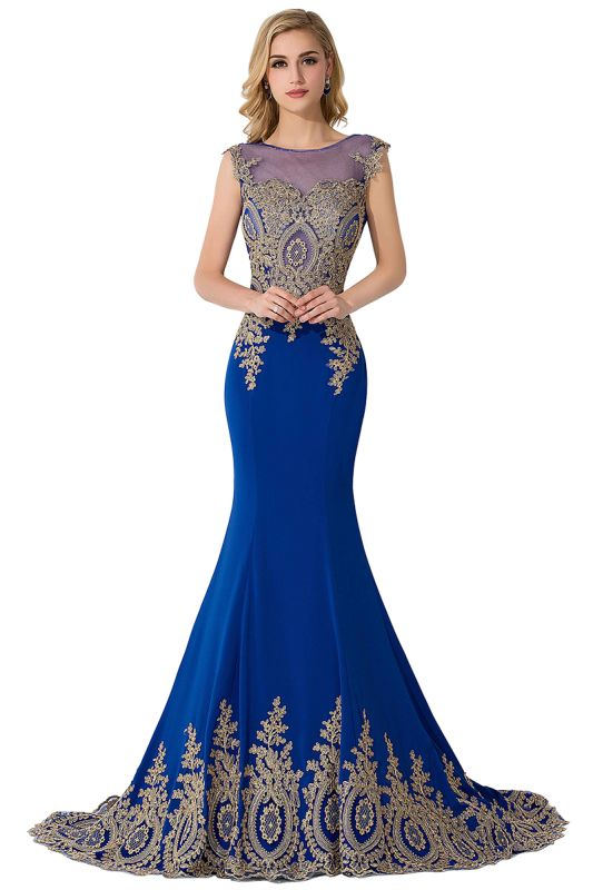 ADALINE | Mermaid Court Train Chiffon Evening Dress with Appliques