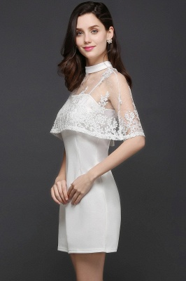 See-through White Homecoming Dress Short_4