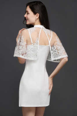 See-through White Homecoming Dress Short_6