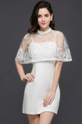 See-through White Homecoming Dress Short_1