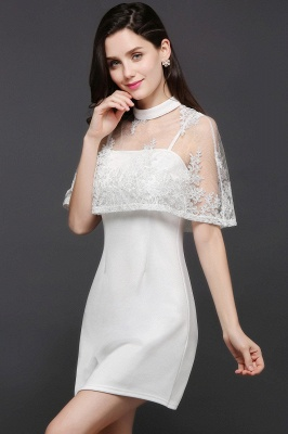 See-through White Homecoming Dress Short_3