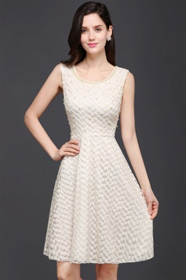 Princess Scoop neck Knee-length Lace Sexy Prom Dress_2
