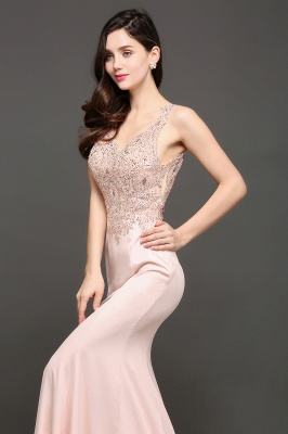 ALLYSON | Mermaid V-Neck Pearl Pink Prom Dresses with Beads_6