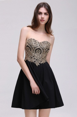 CAITLIN   A-line Short Chiffon Black Homecoming Dresses with Appliques_6