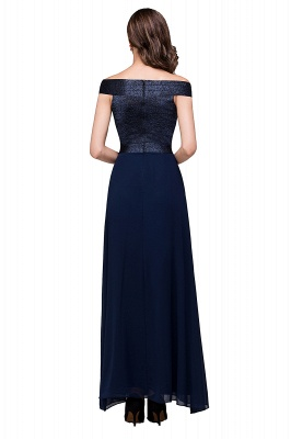 Sheath Off Shoulder Floor-Length Chiffon Prom Dresses_3