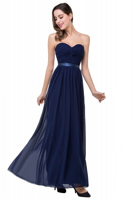A-line Strapless Chiffon Bridesmaid Dress with Draped