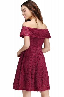 BRIAR | A-Line Off-the-shoulder Lace Burgundy Homecoming Dresses_3