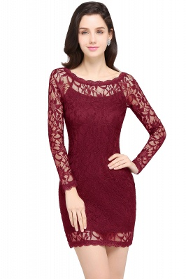 Sexy Black Lace Long Sleeves Mermaid Prom Dresses_2