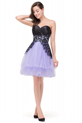 A-line Bowknot-Sash Lace-Up-Back Homecoming Dresses_4