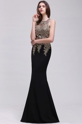 BROOKLYNN | Mermaid Black Prom Dresses with Lace Appliques_7