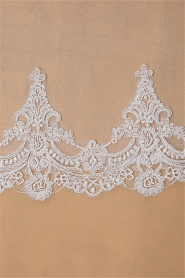 3M One Layer Lace Edge White Ivory Cathedral Wedding Veil ong Bridal Veil_5