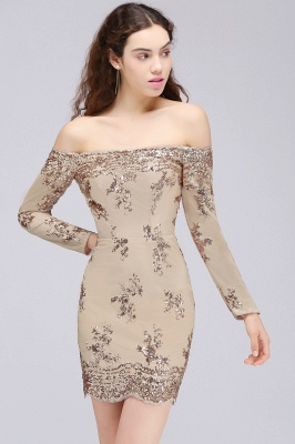 CASSANDRA   Sheath Off-the-Shoulder Nude Pink Homecoming Dresses with Sequins_5
