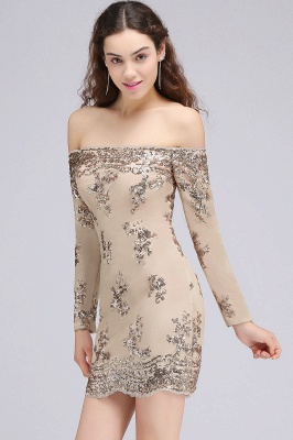 CASSANDRA   Sheath Off-the-Shoulder Nude Pink Homecoming Dresses with Sequins_6