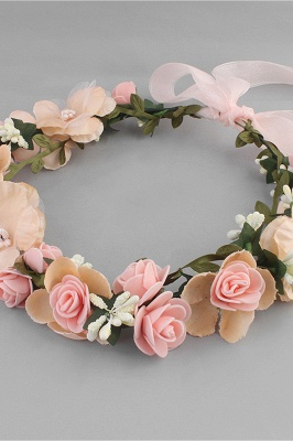 Flower Plastic Special Occasion Flower-Girl's-Headwear Headpiece with Imitation Pearls_2