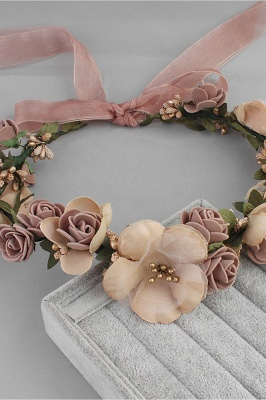Flower Plastic Special Occasion Flower-Girl's-Headwear Headpiece with Imitation Pearls_10