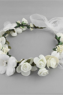Flower Plastic Special Occasion Flower-Girl's-Headwear Headpiece with Imitation Pearls_7