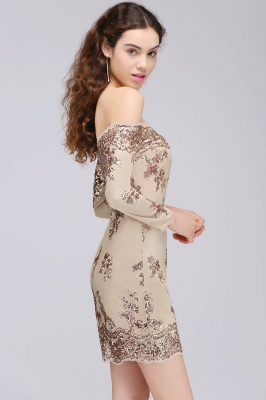 CASSANDRA   Sheath Off-the-Shoulder Nude Pink Homecoming Dresses with Sequins_7