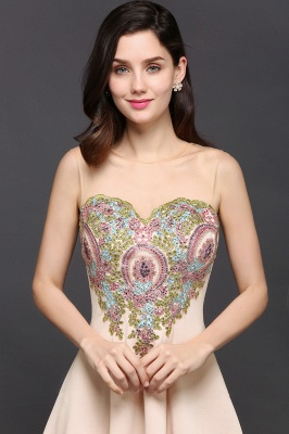A-line Scoop Chiffon Short Homecoming Dress With Appliques_5