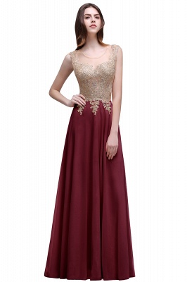 ALAYNA | Sheath Jewel Long Chiffon Evening Dresses With Applique_1