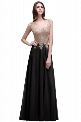 ALAYNA | Sheath Jewel Long Chiffon Evening Dresses With Applique_3