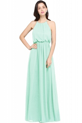 CHEYENNE | A-line Floor-length Chiffon Navy Blue Simple Prom Dress_10