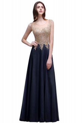 ALAYNA | Sheath Jewel Long Chiffon Evening Dresses With Applique_2