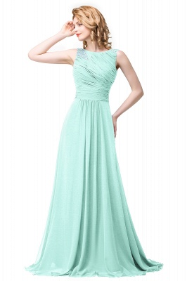 ESMERALDA | A-line Sleeveless Crew Floor-Length Chiffon Prom Dresses with Crystals_3