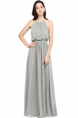CHEYENNE | A-line Floor-length Chiffon Navy Blue Simple Prom Dress_8
