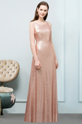 A-line Scoop Sleeveless Floor Length Sequined Prom Dresses_2