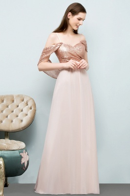 JOSEPHINE | A-line Sweetheart Off-shoulder Spaghetti Long Sequins Chiffon Prom Dresses_8