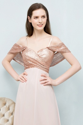 JOSEPHINE | A-line Sweetheart Off-shoulder Spaghetti Long Sequins Chiffon Prom Dresses_9