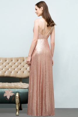 A-line Scoop Sleeveless Floor Length Sequined Prom Dresses_8