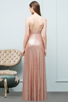 A-line Scoop Sleeveless Floor Length Sequined Prom Dresses_3