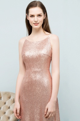 A-line Scoop Sleeveless Floor Length Sequined Prom Dresses_7