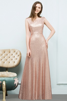 JOSELYN | A-line Floor Length Scoop Sleeveless Sequined Prom Dresses_5
