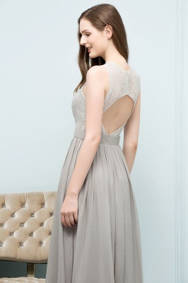 A-line Sleeveless Long Lace Top Chiffon Bridesmaid Dresses_6