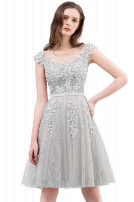 WILMA | Ball Gown Illusion Neckline Tea Length Lace Tulle Dusty Pink Prom Dresses with Beading_6