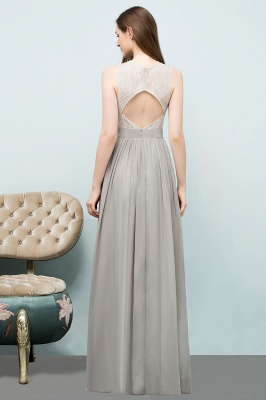A-line Sleeveless Long Lace Top Chiffon Bridesmaid Dresses_3