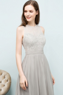 A-line Sleeveless Long Lace Top Chiffon Bridesmaid Dresses_8