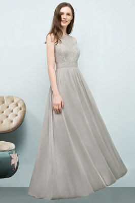 A-line Sleeveless Long Lace Top Chiffon Bridesmaid Dresses_5