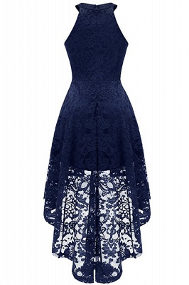 Lace Dress Female Robe Casual 1950s Rockabilly High Low Sleeveless Swing Summer Dresses_11