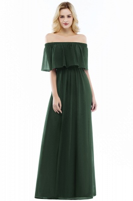 Hera | Off the shoulder Black Long Evening Dress - Clearance Sale_4