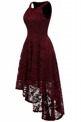 Lace Dress Female Robe Casual 1950s Rockabilly High Low Sleeveless Swing Summer Dresses