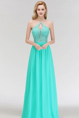 MADELEINE | A-line Keyhole Neckline Lace Top Long Spaghetti Bridesmaid Dresses_7