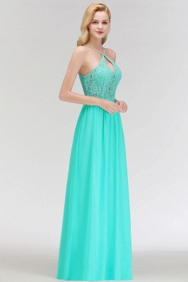 MADELEINE | A-line Keyhole Neckline Lace Top Long Spaghetti Bridesmaid Dresses_6