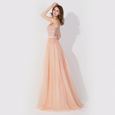 Cheap A-line Chiffon Bridesmaid Dress Tulle Lace Ruffles in Stock_3